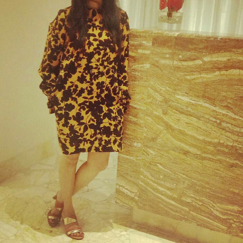 b09a5dd5d79f9 hm yellow floral long-sleeved dress from H&M – coutloot.com