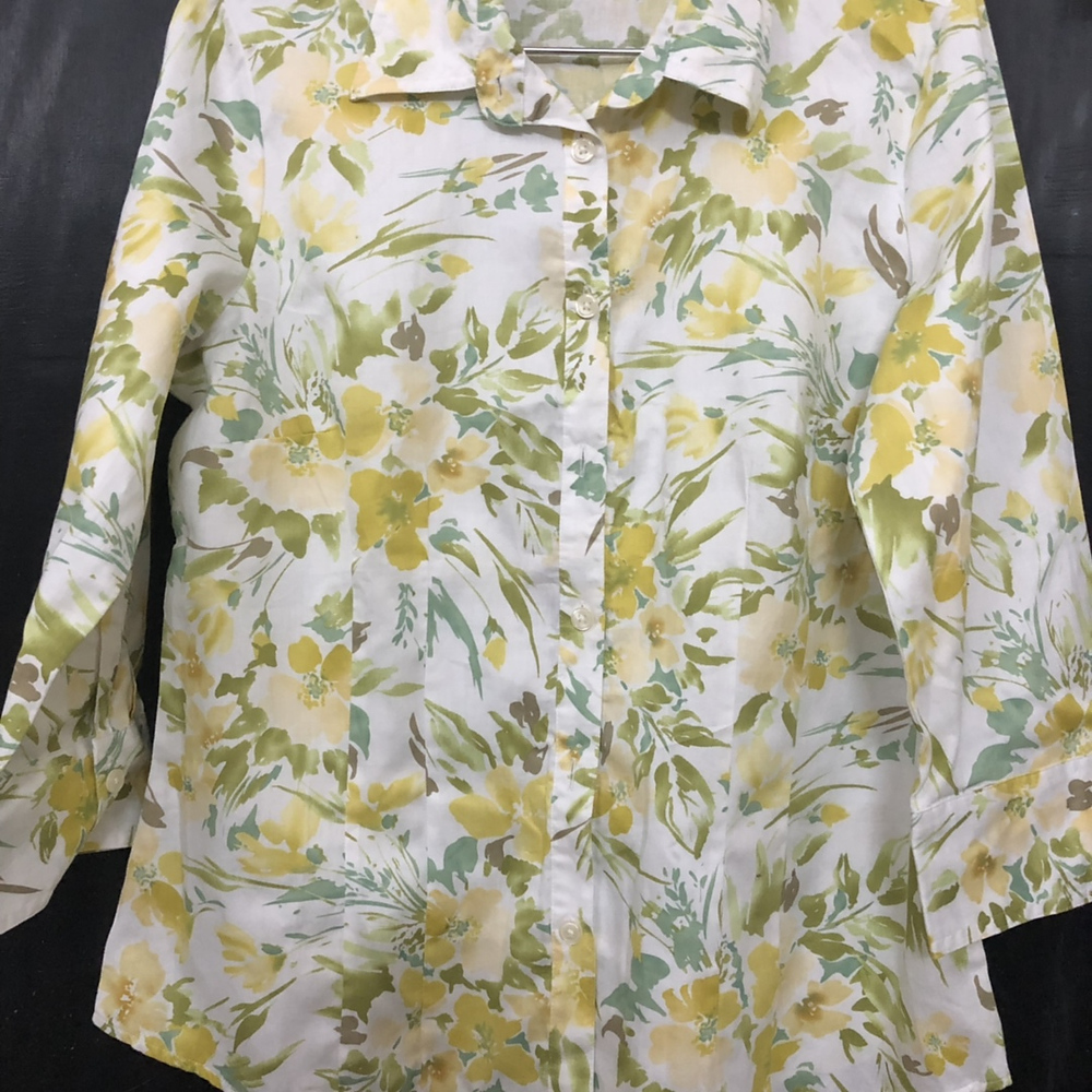 59dceeeb3decc2 Yellow and white floral print shirt from Van Heusen – coutloot.com