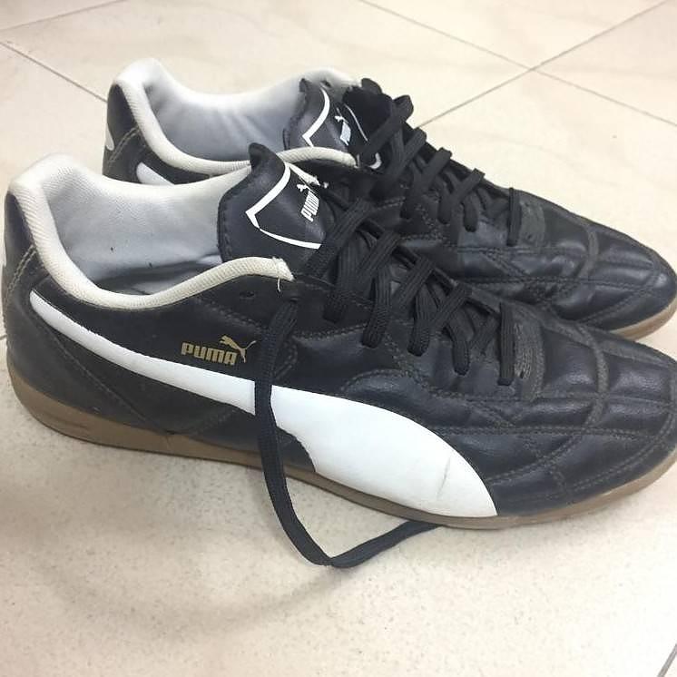 black Puma nonmarking shoes UK10
