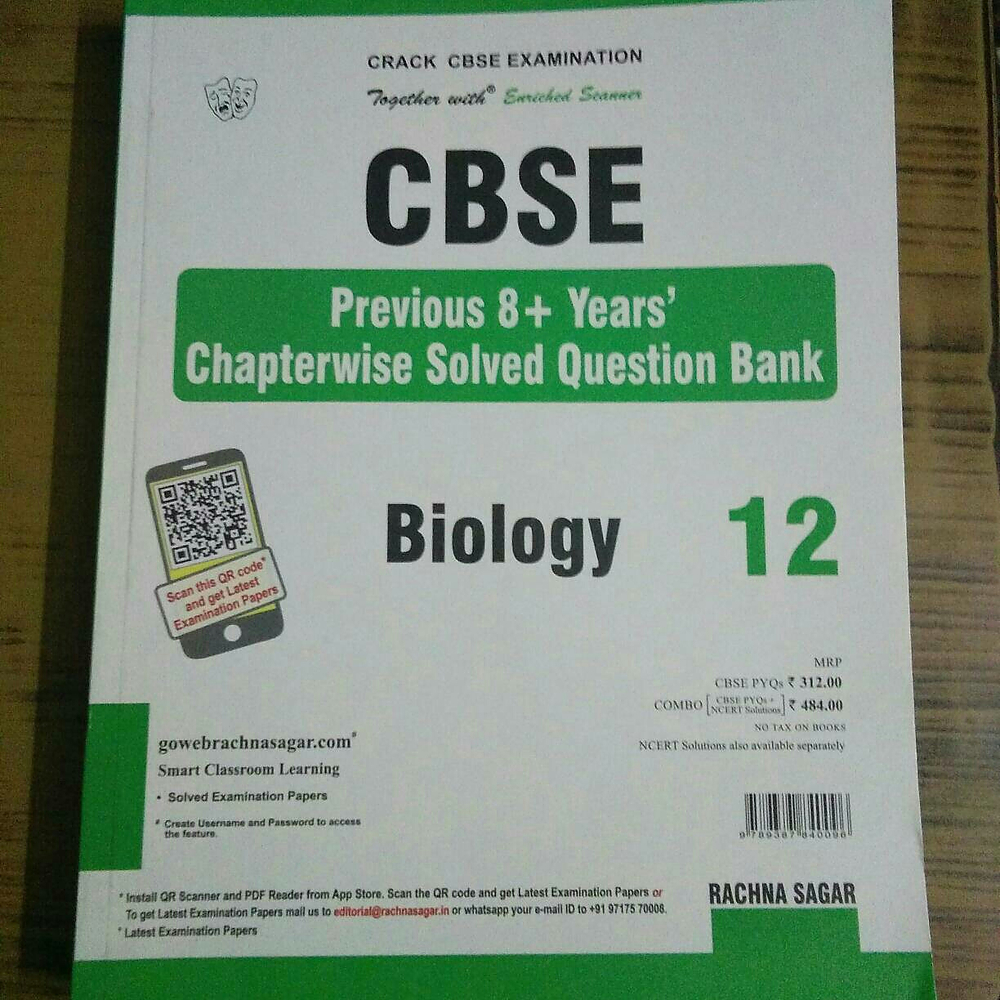 Together with CBSE Biology XII Previous 8years Chapterwise