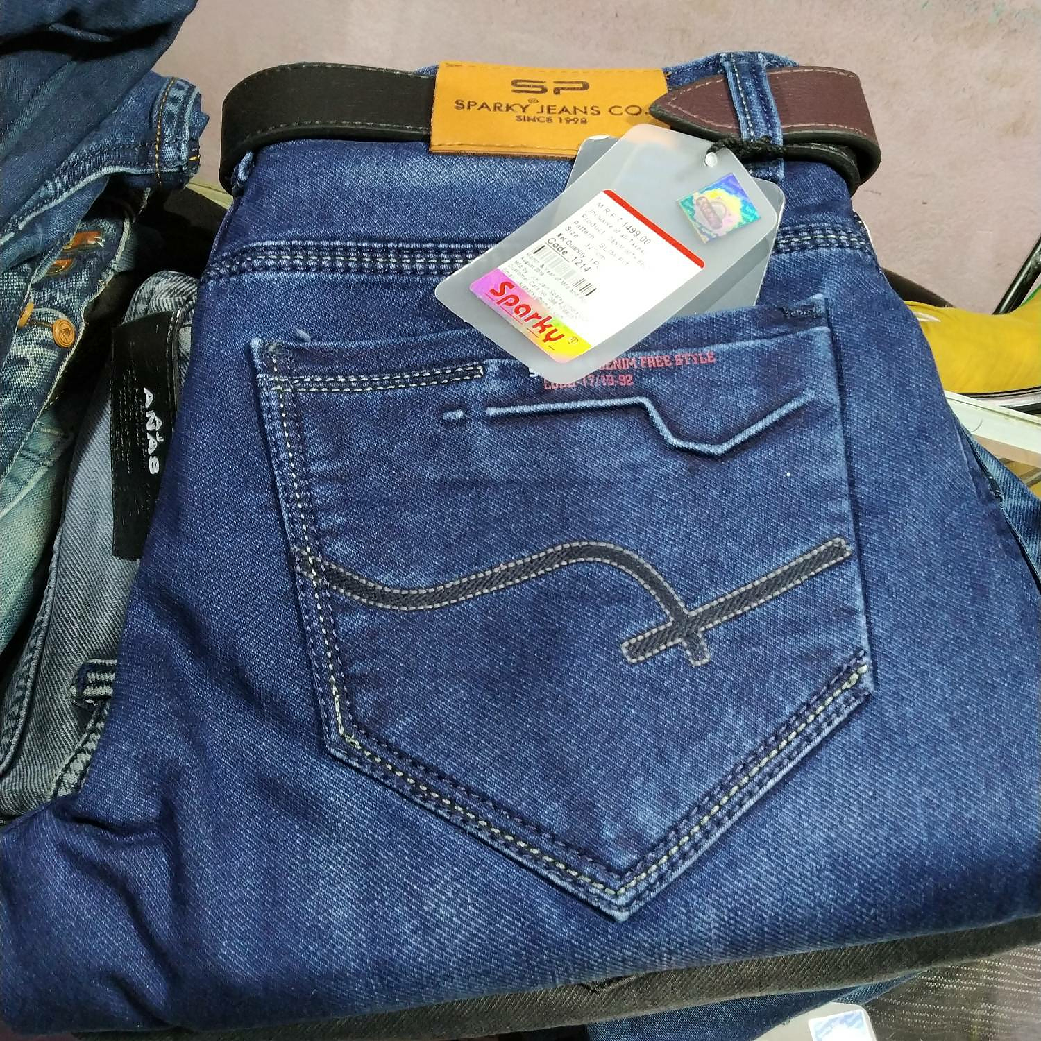 new images of great fit cheaper blue Sparky Jeans Co. bottoms from –coutloot.com